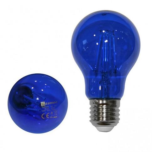 Bec LED COG color Adeleq Lumen 06-728/A clasic E27 6W lumina albastra