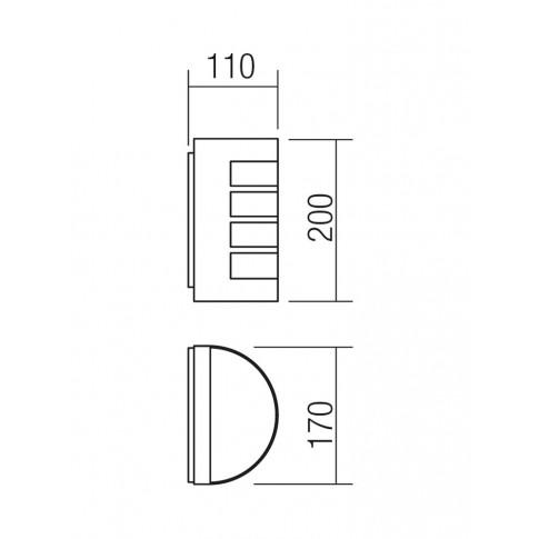 Aplica exterior Evo 9001, 1 x E27, gri inchis