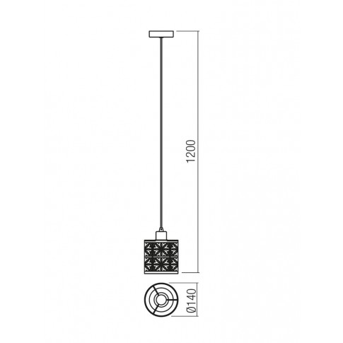 Suspensie Vanilla Bk 01-1171, 1 x E27, neagra