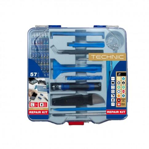 Trusa de scule de mana pentru reparatii smartphone Tivoly, 57 piese