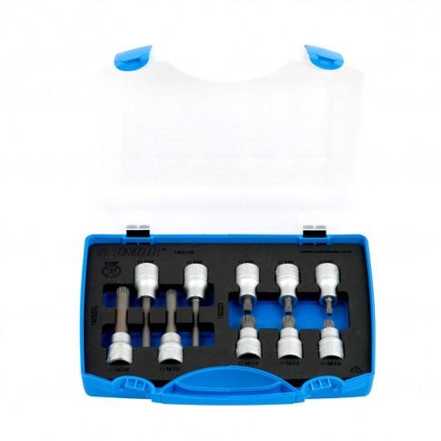 Capete chei tubulare, cu profil ZX / ZXL, Unior 617125, E10 - E24, 1/2 inch, set 10 bucati