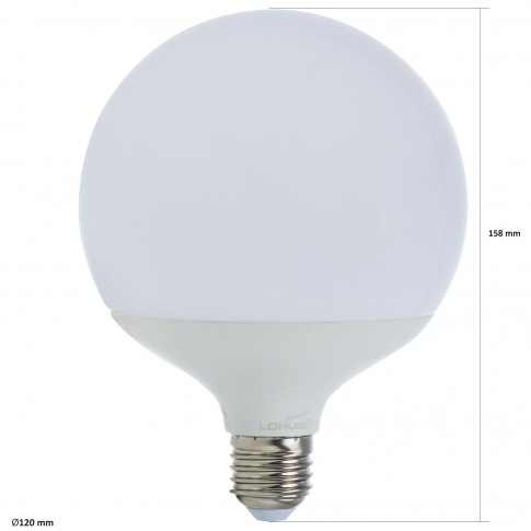 Bec LED Lohuis Ecoline glob G120 E27 18W 1900lm lumina rece 6500 K