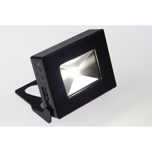 Proiector mini Hoff, 450lm, lumina rece / lumina de alarma rosie + albastra, cu magnet, acumulator si USB