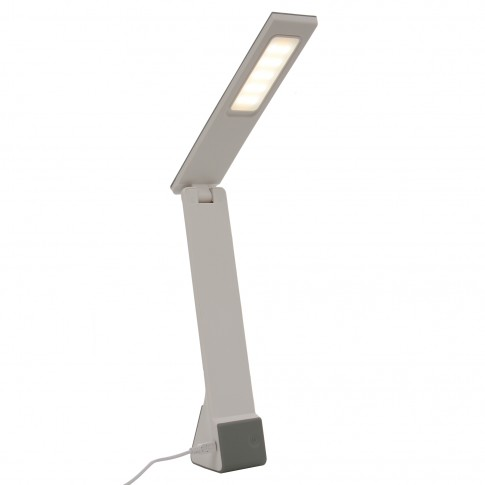 Veioza LED Lisa 4W + USB, functie touch, 3 trepte de lumina, argintie