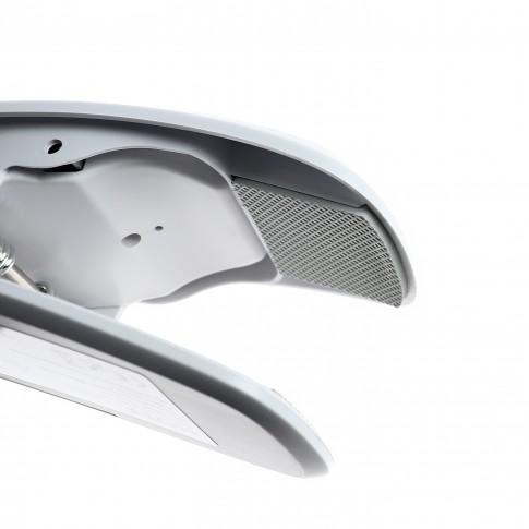 Veioza LED Lara 5W clips + USB, functie touch, alba