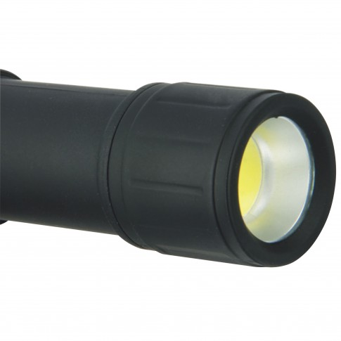 Lampa LED camping Hoff, alimentare baterii (3 x AAA), 3W, 120 lm, lanterna detasabila