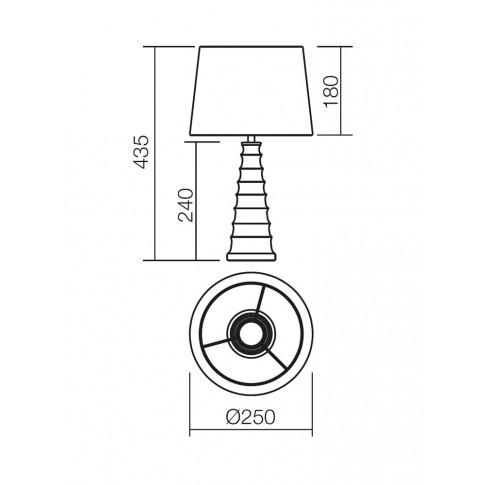Veioza Chantal 01-1191, 1 x E27, alba