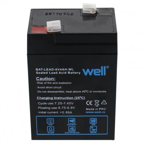 Acumulator plumb acid sigilat Well, 6V, 4000 mAh