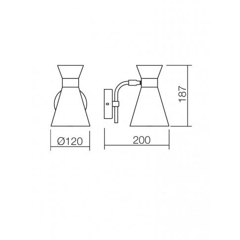 Aplica Noak 01-1184, 1 x E14, negru