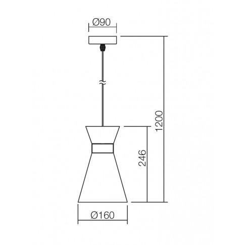 Suspensie Noak 01-1186, 1 x E27, negru