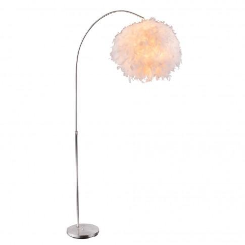 Lampadar Katunga 15057S, 1 x E27, 1960 mm, cu pene, alb