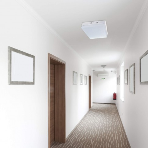 Aplica LED aparenta Hepol 18W 1600lm patrata lumina rece 6500 K, IP20