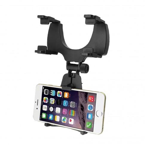 Suport auto telefon pentru oglinda retrovizoare, Ro Group, IN2048, plastic, negru