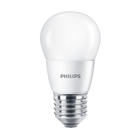 Bec LED Philips mini P48 E27 7W 830lm lumina neutra 4000 K