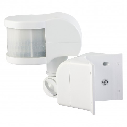 Senzor miscare Hepol ST13B, exterior (IP44), alb, 270 grade