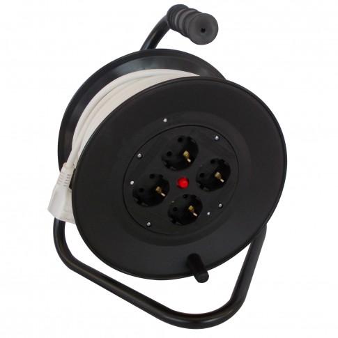 Derulator cablu electric N-96317 PD-4CP, 4 prize, 25 m, 3 x 2.5 mmp