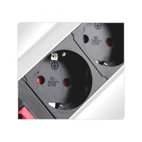 Coloana Liftbox 3 prize cu cablu 1.8 m, incorporabila, pop up, aluminiu