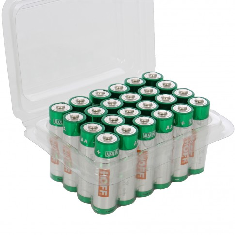 Baterie Hoff, AA / LR6, alcalina, 24 buc