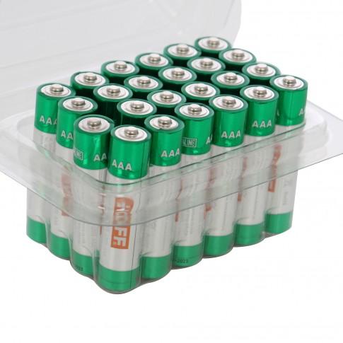 Baterie Hoff, AAA / LR03, alcalina, 24 buc
