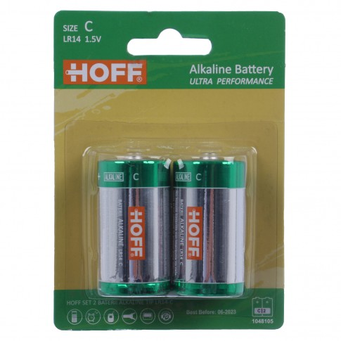 Baterie Hoff, C / LR14, alcalina, 2 buc