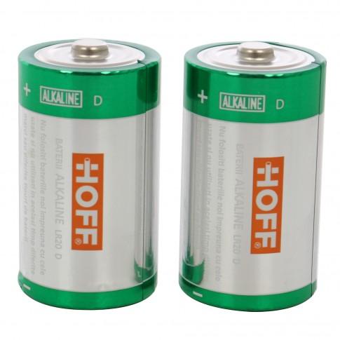 Baterie Hoff, D / LR20, alcalina, 2 buc
