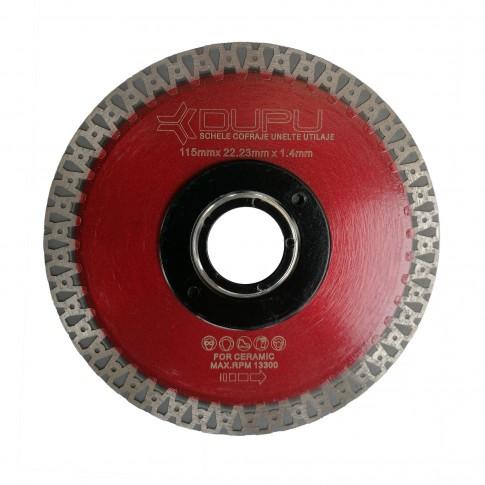 Disc diamantat, continuu, pentru debitare placi ceramice, Dupu Matrix, 115 x 22.23 x 1.4 mm