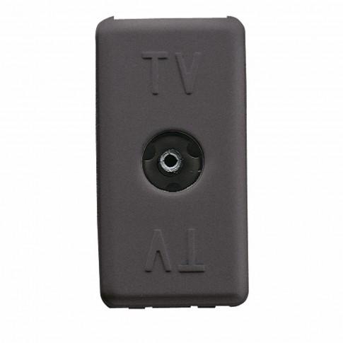 Priza TV de trecere Gewiss System GW21229-1BL, incastrata, modulara - 1, neagra