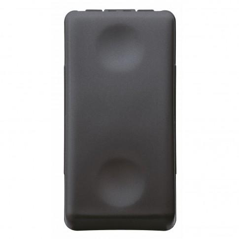 Buton cu revenire 1 post, 10A, Gewiss GW21510-1BL, negru