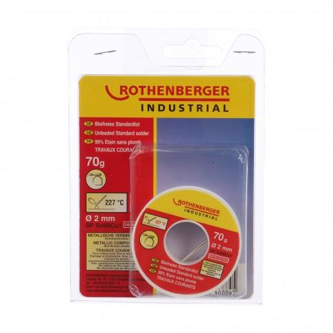 Aliaj lipire standard, Rothenberger 1000002354, 2 mm, 70 g