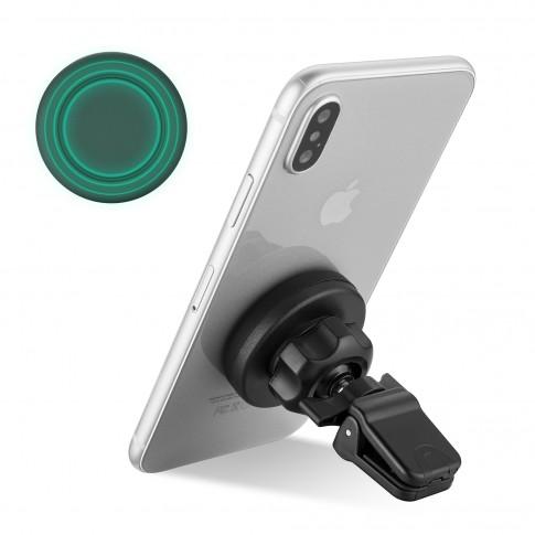 Suport auto pentru telefon Roll Fast, AC016, universal magnetic, negru