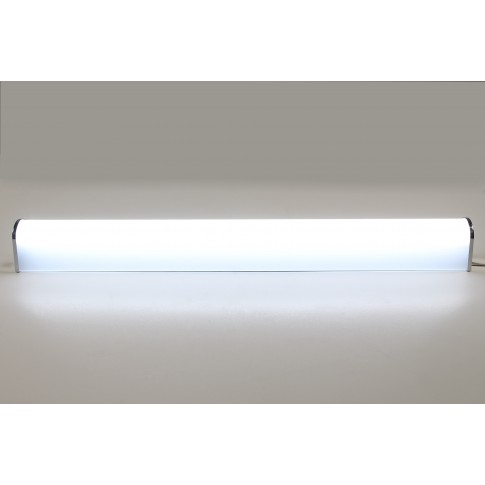 Corp iluminat LED Hepol 15W, 1500 lm, aparent, 60 cm, IP40, lumina rece, intrerupator, alb