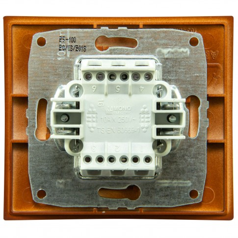 Intrerupator simplu Mono Electric Larissa, incastrat, rama inclusa, cires