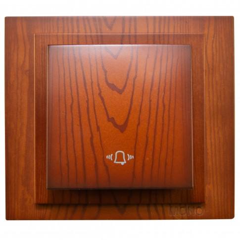 Intrerupator cu revenire si simbol sonerie, Mono Electric Larissa, incastrat, rama inclusa, cires