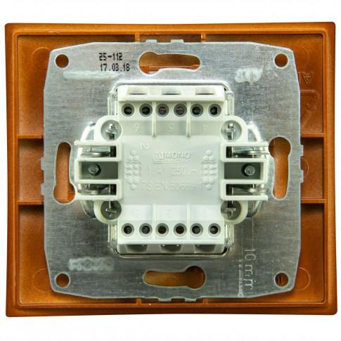 Intrerupator cap cruce, Mono Electric Larissa, incastrat, rama inclusa, cires