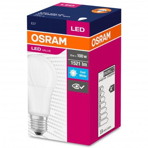 Bec LED Osram clasic mat A100 E27 13W 1521lm lumina neutra 4000 K