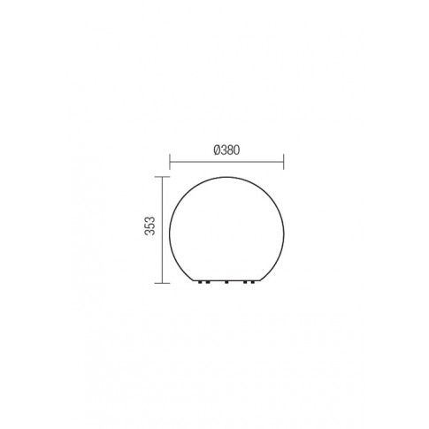 Glob Baloo 9965, 1 x E27, H 35.3 cm, D 38 cm, IP65, opal