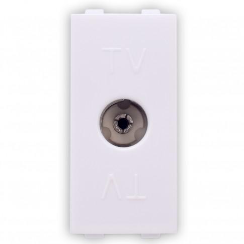 Priza TV capat, Hoff, modulara - 1, alba