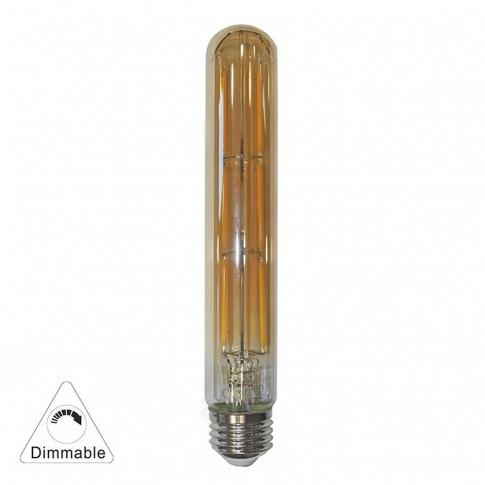 Bec LED decorativ Adeleq Lumen 13-27846009 tubular T185 E27 6W 650lm lumina calda 2200 K, dimabil, auriu