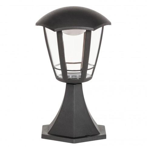 Stalp exterior LED Sorento 8127, 8W, H 30 cm, negru