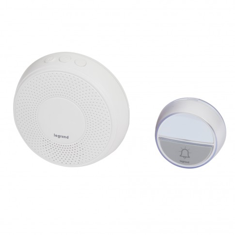 Sonerie fara fir Comfort 094254, 15 melodii, 100 m, 75 dB, IP44, alba, receptor cu alimentare la priza