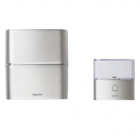 Sonerie fara fir Serenity 094271, LED, 30 melodii + MP3, 200 m, 80 dB, IP54, argintie