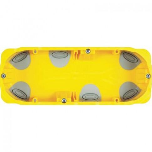 Doza gips carton Bticino PB506N, incastrata, modulara, 6 module, 183 x 71 x 52 mm