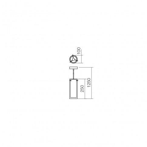 Suspensie Qipao 01-1255, 1 x E27, negru + cupru