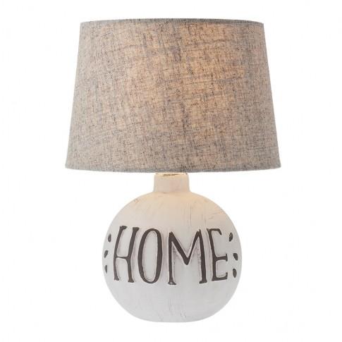 Veioza Home 01-1373, 1 x E14, bej + alb