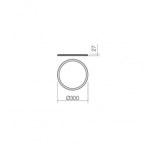 Plafoniera LED Zing 01-1285, 18W