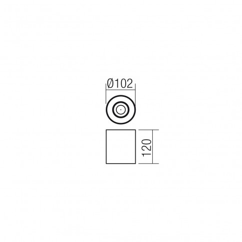 Spot aparent Kato 01-1307, 1 x GU10, orientabil, negru