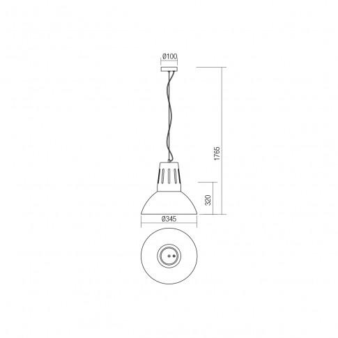 Suspensie Peep 01-1281, 1 x E27, D 345 mm, negru mat