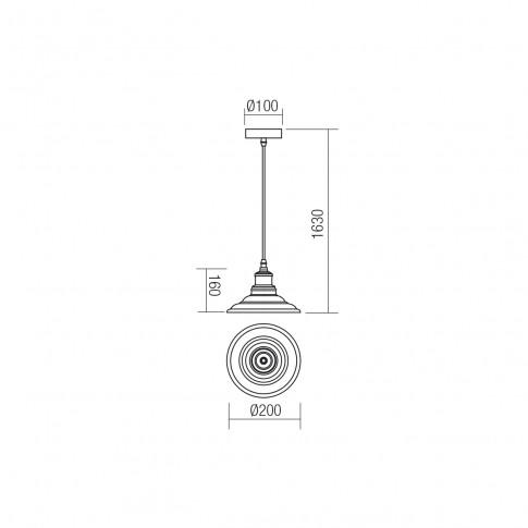 Suspensie Spinner 01-1293, 1 x E27, alba