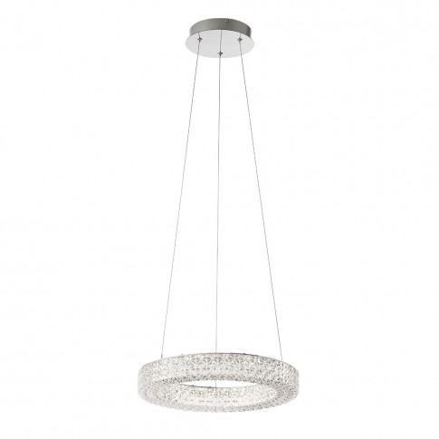 Suspensie LED Metis 01-1389, 24W, efect de cristal