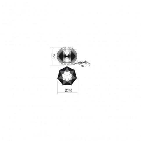 Veioza Arcadia 01-1247, 1 x E14